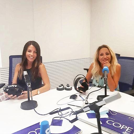 Elisa Blázquez en el programa de radio Fin de Semana de La Cope