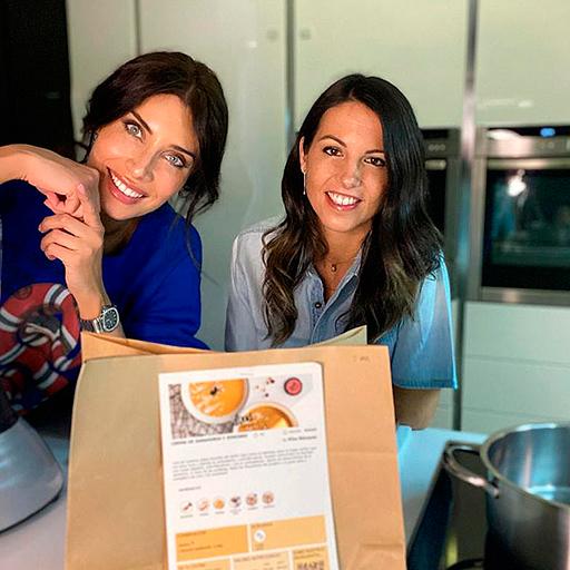 Pilar Rubio y Elisa Blázquez Cocinando los CALABACETIS