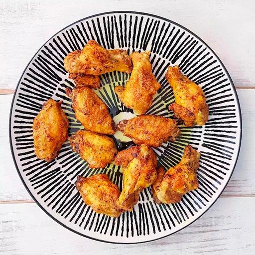 Alitas de pollo al horno con curry