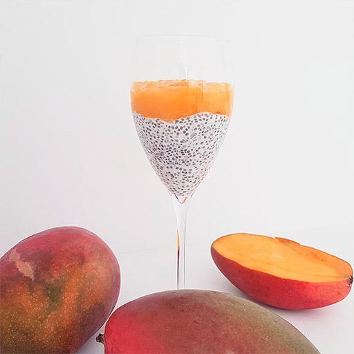 Pudding de Chía y Kefir con Mango